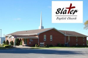 Slater Baptist Church logo Building